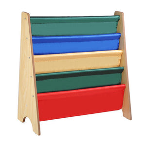 Kids Sling Bookshelf Book Storage Display Holder Natural