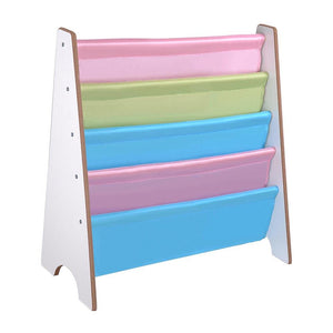 Kids Sling Bookshelf Pastel Book Storage Display White