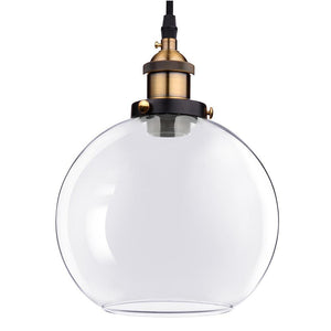 Yescom Pendant Light Glass Globe Shade 7 9/10 in Vintage Classic Clear