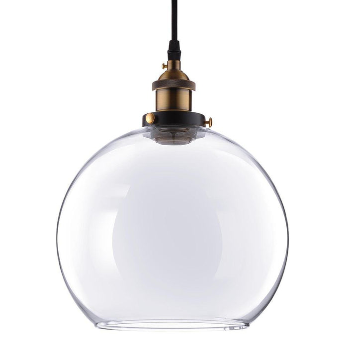Yescom Pendant Light Glass Globe Shade 9 4/5 in Vintage Classic Clear