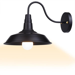 Yescom 10 in Industrial Black Wall Sconce Wall Light 1 Light