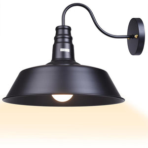Yescom 14 in Industrial Black Wall Sconce Wall Light 1 Light