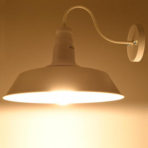 Yescom 14 in Industrial White Wall Sconce Wall Light 1 Light