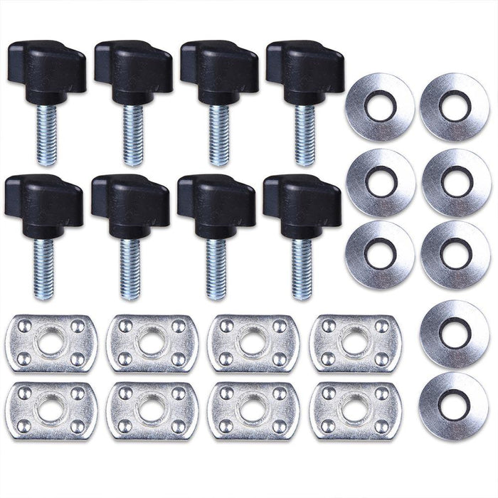 Yescom Hard Top Fasteners Nuts Screws Quick Remove for Jeep Wrangler 8-Set