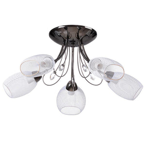 Flush Mount Ceiling Light 5 Lights Mesh Shade Black