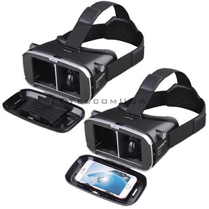 VR Virtual Reality Headset 3D Glasses Android iOS Black