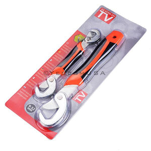 2X Multi-function Adjustable Grip Wrench 8-32mm Spanner