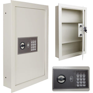 "22x16x4"" Security Electronic Digital Wall Safe White II"
