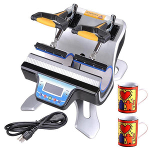 Dual-Station Heat Sublimation Transfer Press Machine Mug Cup
