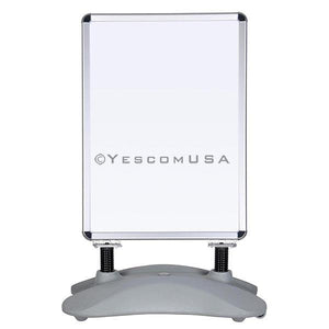 Yescom Pavement Sign Holds 23x33 in Poster with Rolling Water-Fill Base