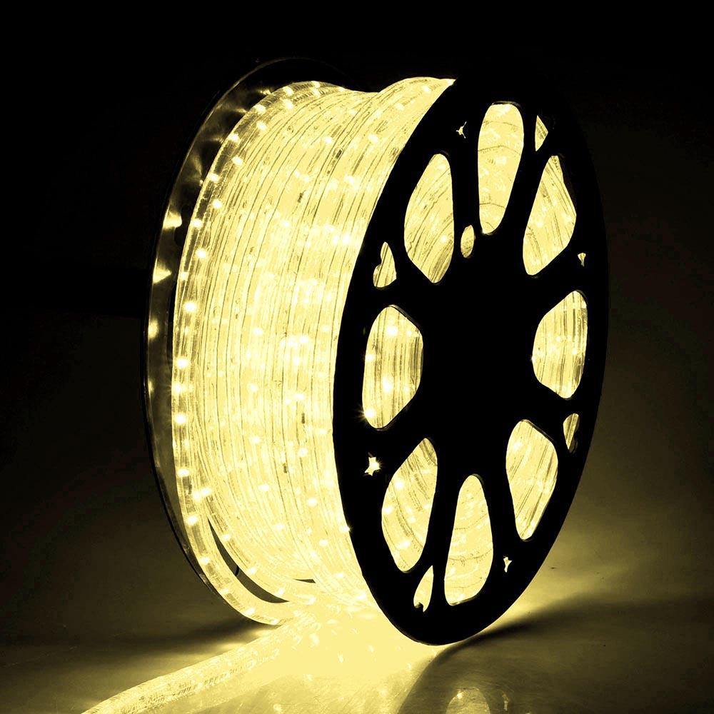 DELight Holiday Lighting LED Rope Light Spool 150ft Warm White