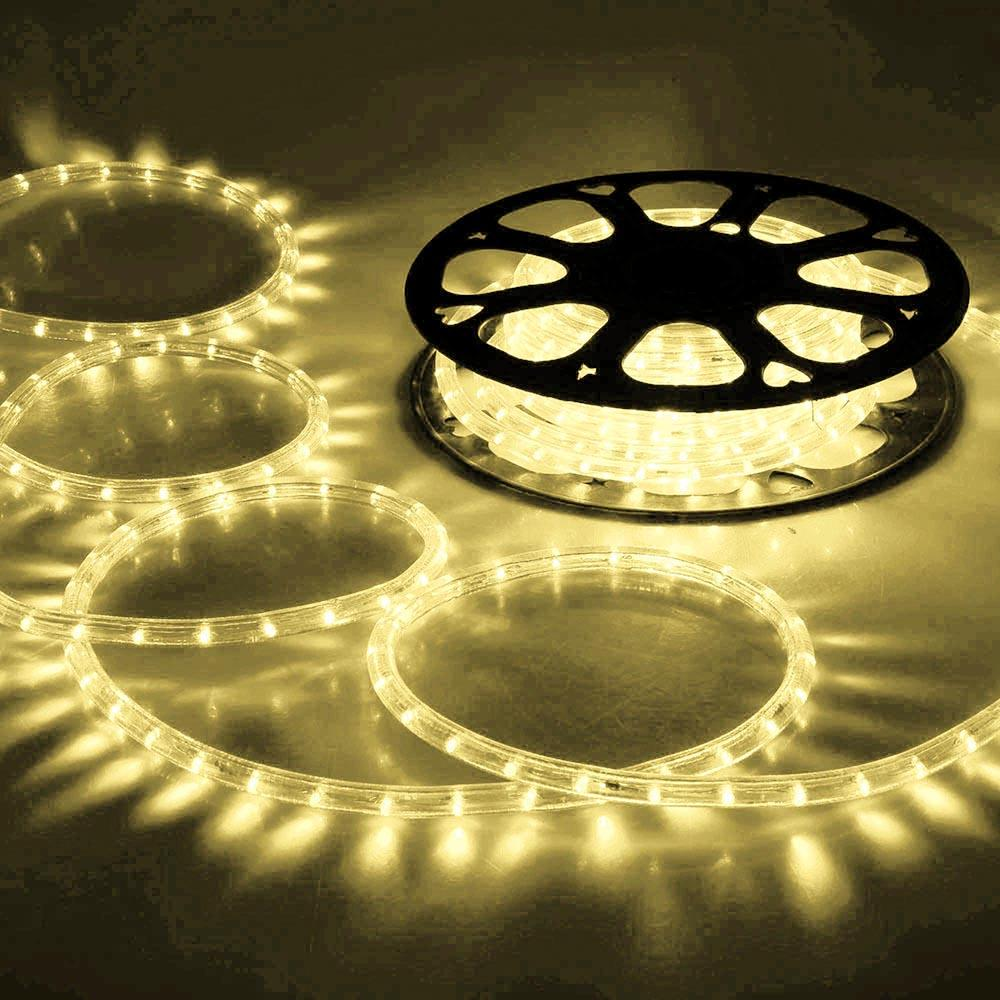 Delight Holiday Lighting Led Rope Light Spool 150ft Warm
