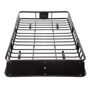 64in Car Rooftop Cargo Basket Carrier w/ Extension Universal