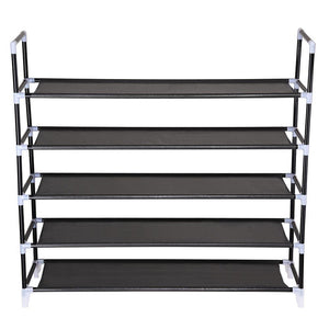 Yescom 5 Tiers 25 Pairs Metal Shoe Rack Stackable Shelf Color Options