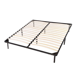 Queen 14 in High Bed Frame Wood Slat & Metal Platform