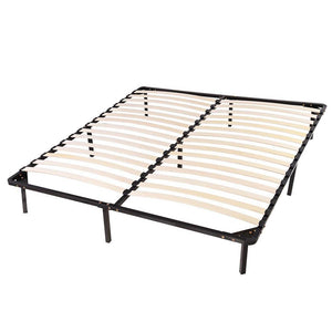 Yescom King 14 in High Bed Frame Wood Slat & Metal Platform