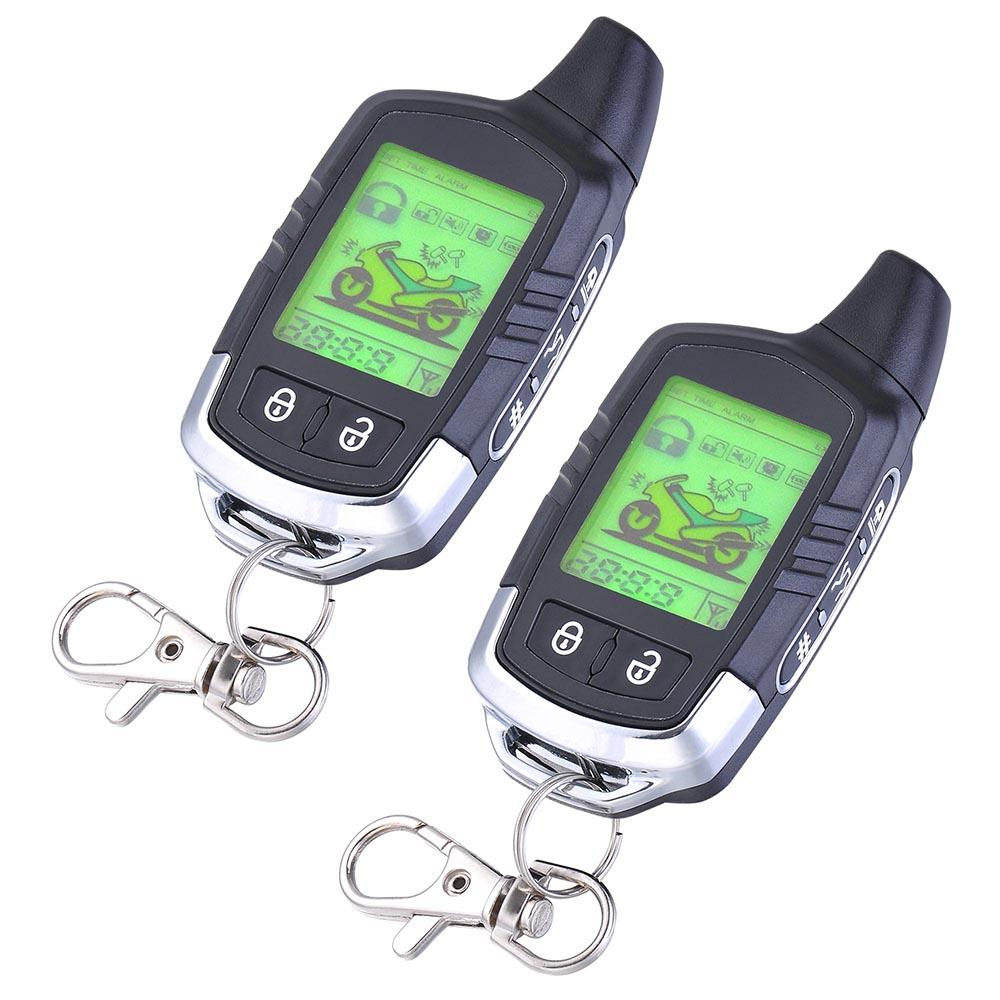 Yescom Motorcycle Remote Alarm System 2 Way LCD Pager Security