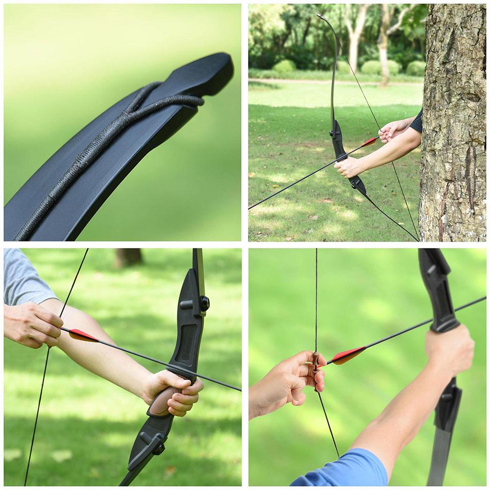 Yescom Left & Right Hand Archery Recurve Bow Takedown Hunting 54in 28lbs