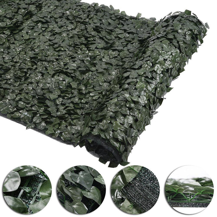 "Yescom 59""x196"" Faux Ivy Leaf Fence Screen 90% Privacy w/ Mesh"