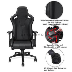 Anda Seat 4D Arms Game Chair Highback Ergonomic Pillow Cushion 400lbs