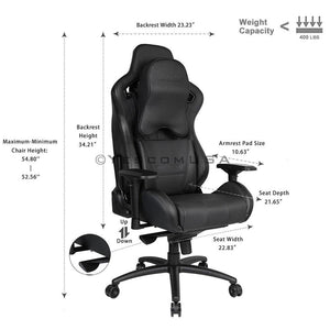 Anda Seat 4D Arms Game Chair Highback Memory Pillow Cushion 400lbs