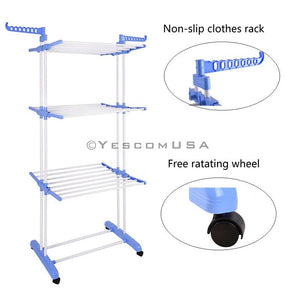 (UK) 6 Layers Folding Air Clothes Tree Clothes Dryer Rack