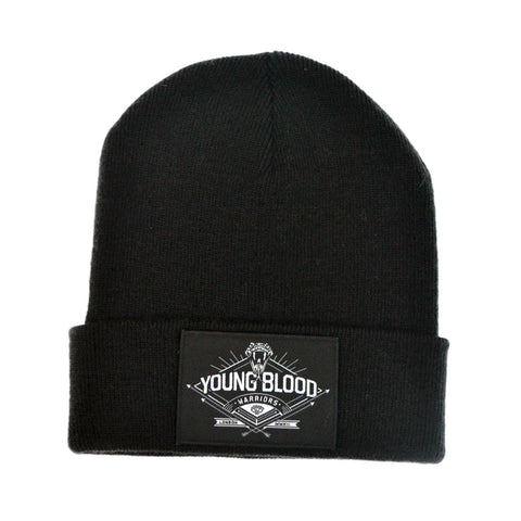 BLACK WARRIOR PATCH BEANIE