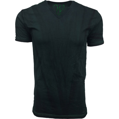EWC 175VK Vintage Kelly Green Hand Dyed Ultra Soft Sueded V-Neck T-shirt