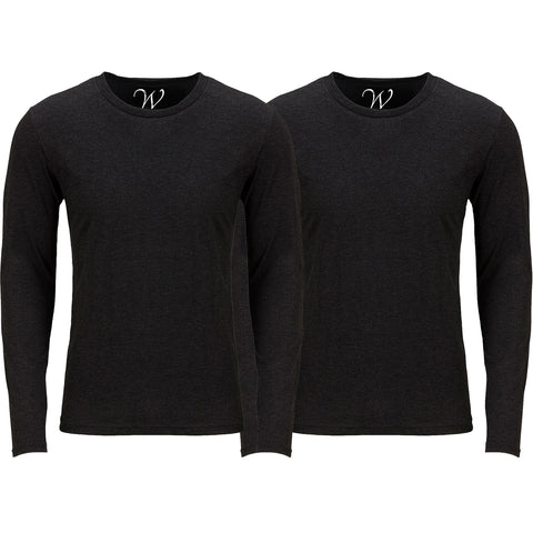 EWC 607BB 2-Pack Ultra Soft Sueded Long Sleeve - Black / Black