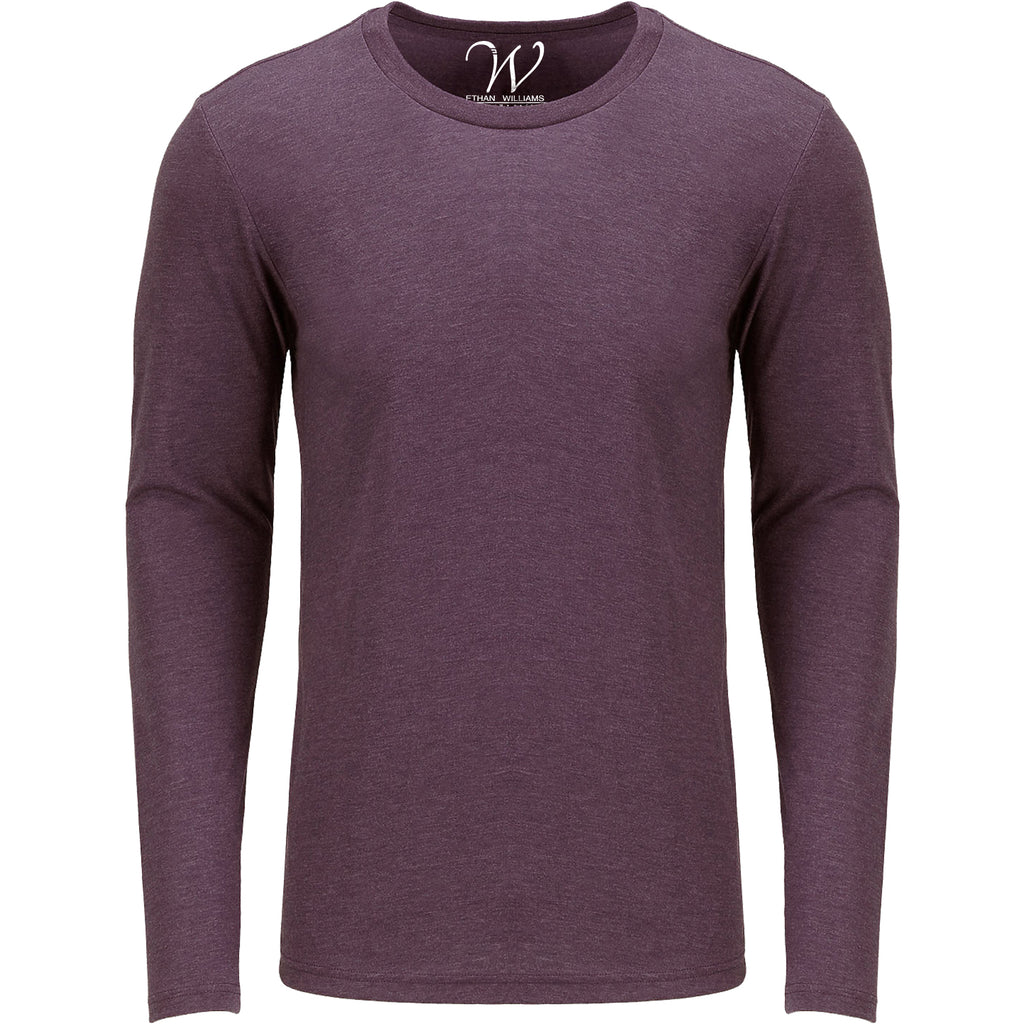 EWC 607BG Burgundy Ultra Soft Sueded Long Sleeve