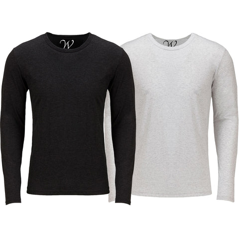 EWC 607BW 2-Pack Ultra Soft Sueded Long Sleeve - Black / White