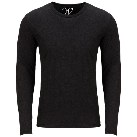 EWC 607B Black Ultra Soft Sueded Long Sleeve