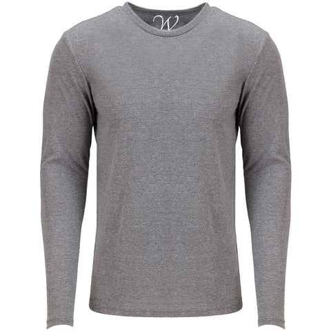 EWC 607HG Heather Grey Ultra Soft Sueded Long Sleeve