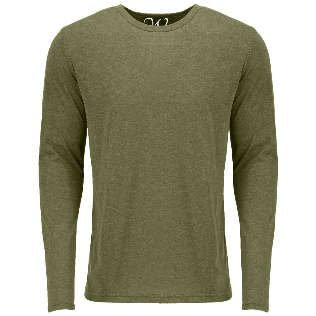 EWC 607MG Military Green Ultra Soft Sueded Long Sleeve