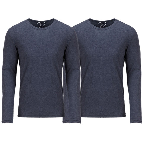 EWC 607NN 2-Pack Ultra Soft Sueded Long Sleeve - Navy / Navy