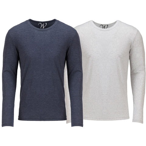 EWC 607NW 2-Pack Ultra Soft Sueded Long Sleeve - Navy / White
