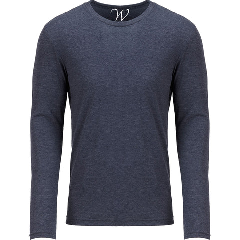 EWC 607N Navy Ultra Soft Sueded Long Sleeve