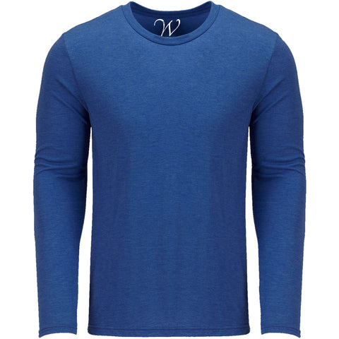 EWC 607RB Royal Blue Ultra Soft Sueded Long Sleeve