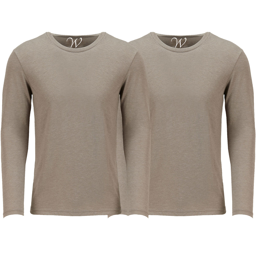 EWC 607SS 2-Pack Ultra Soft Sueded Long Sleeve - Sand / Sand