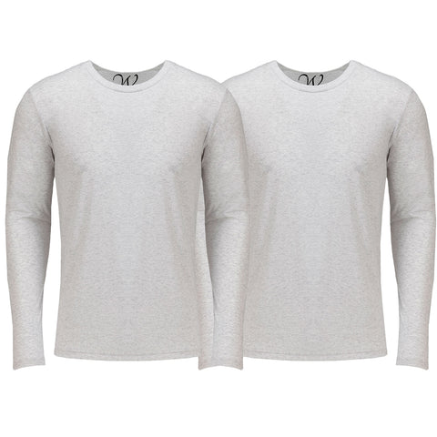 EWC 607WW 2-Pack Ultra Soft Sueded Long Sleeve - White / White