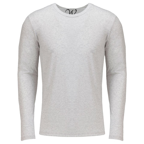EWC 607W White Ultra Soft Sueded Long Sleeve