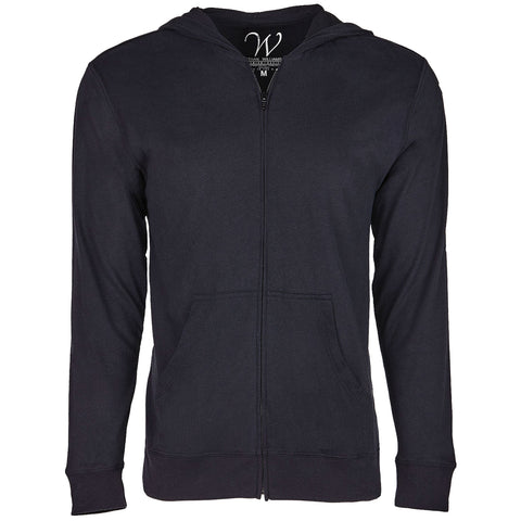 EWC 649B Black Ultra Soft Sueded Hoodie