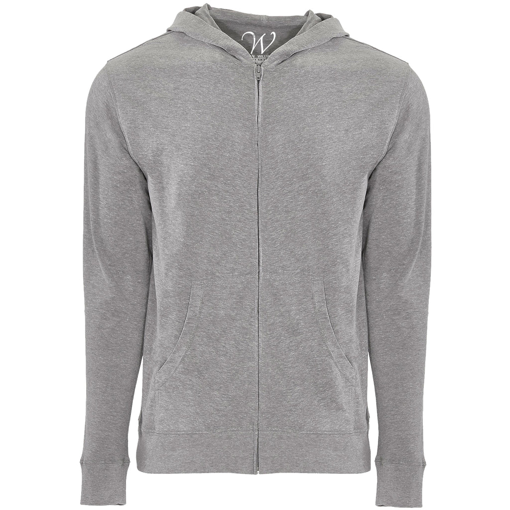 EWC 649HG Heather Grey Ultra Soft Sueded Hoodie
