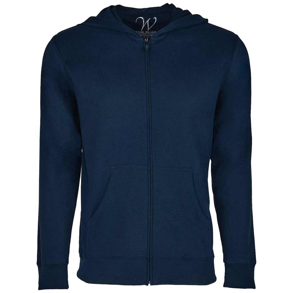EWC 649N Navy Ultra Soft Sueded Hoodie