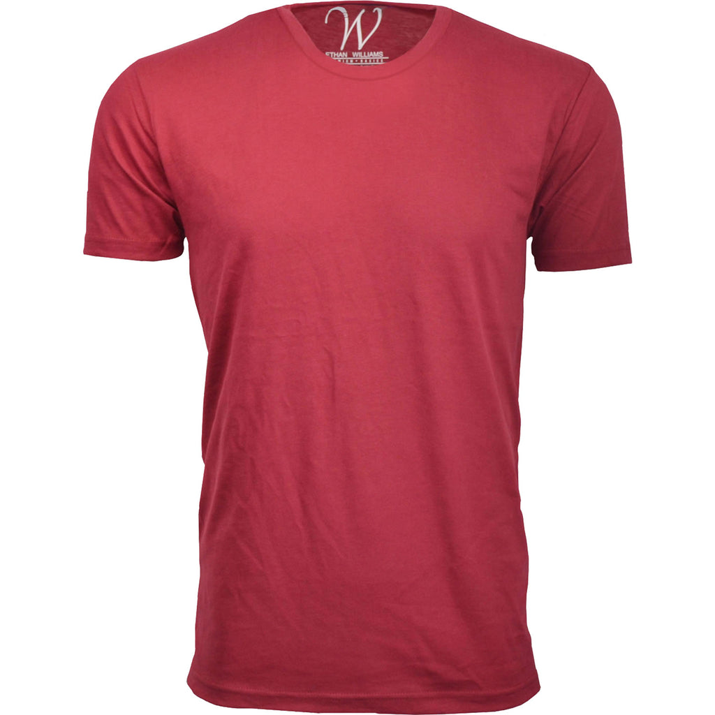 EWC 100BG Burgundy Ultra Soft Sueded Crew Neck T-shirt