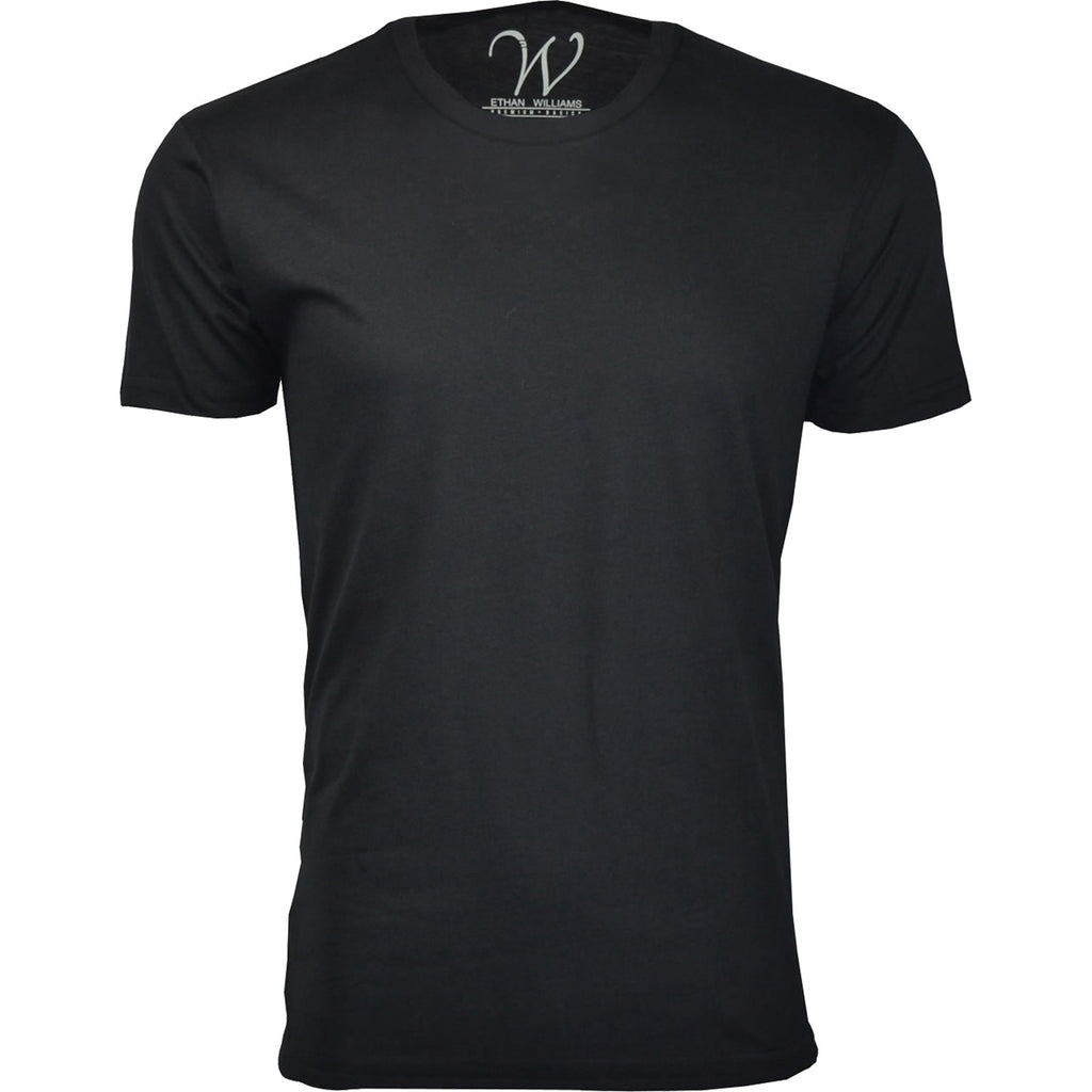 EWC 100B Black Ultra Soft Sueded Crew Neck T-shirt