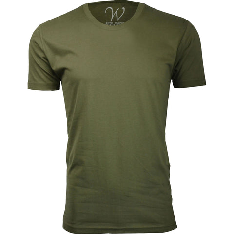EWC 100MG Military Green Ultra Soft Sueded Crew Neck T-shirt