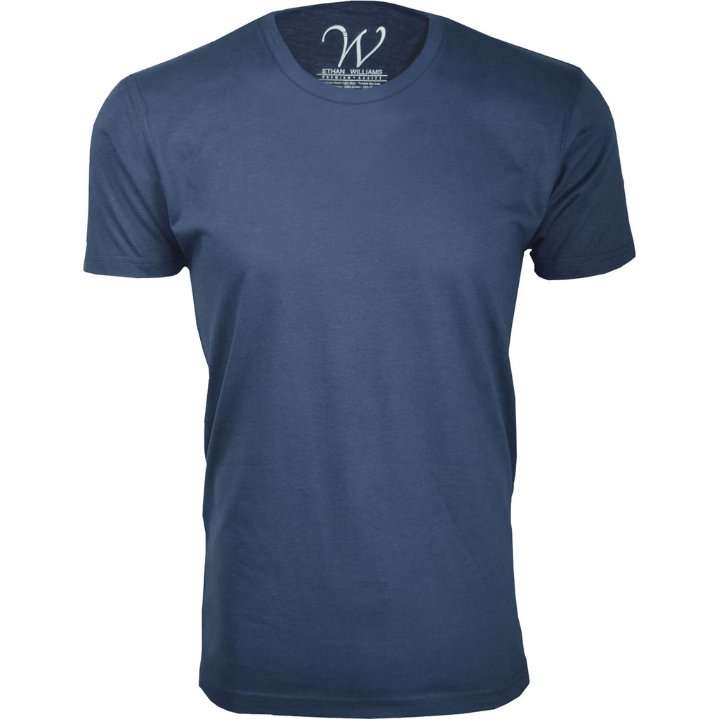 EWC 100N Navy Ultra Soft Sueded Crew Neck T-shirt