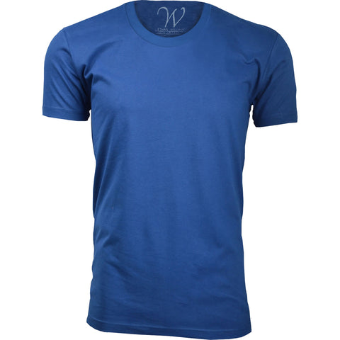 EWC 100RB Royal Blue Ultra Soft Sueded Crew Neck T-shirt