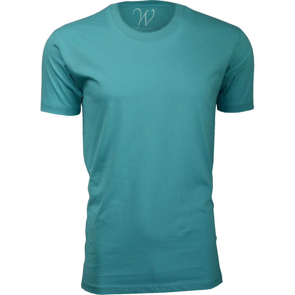 EWC 100T Turquoise Ultra Soft Sueded Crew Neck T-shirt